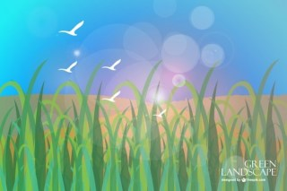 Grass Scenery Free Vector