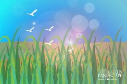 Grass Scenery Free Vector