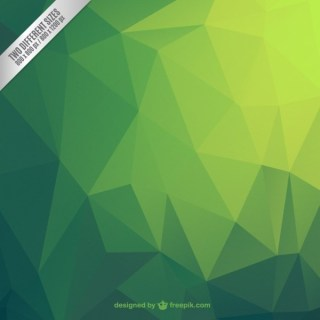 Green Abstract Polygonal Background Free Vector