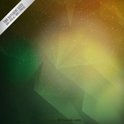 Green and Yellow Polygonal Background Free Vector