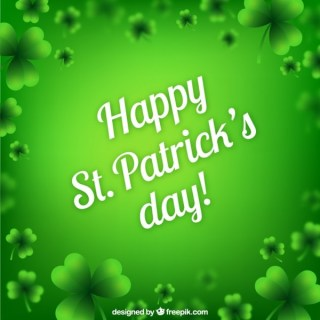 Green Card for St Patricks Day Free Vector