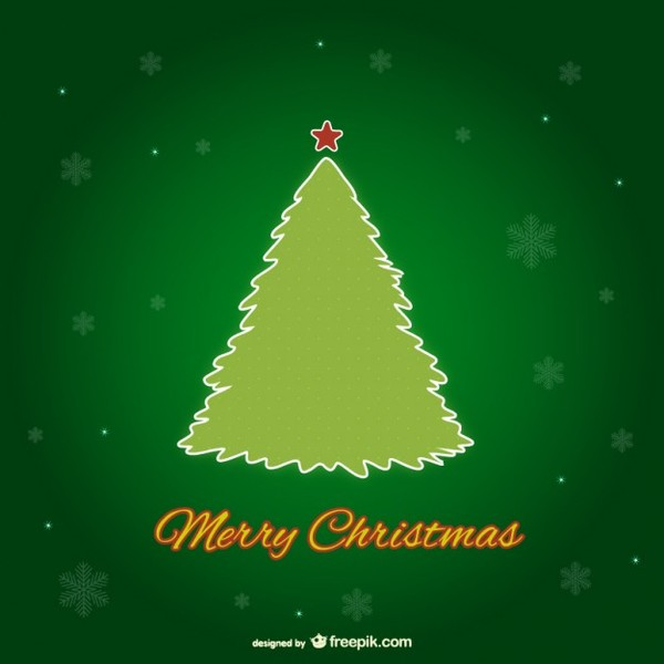 Green Christmas Tree Free Vector