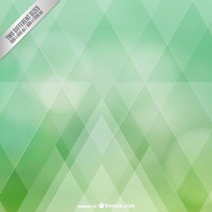 Green Diamonds Background Free Vector