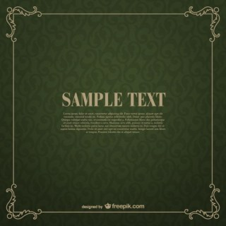 Green Floral Frame Template Free Vector