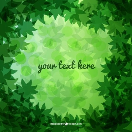 Green Forest Leaves Free Vector