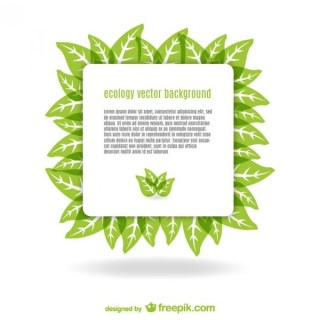 Green Leaves Template Free Vector