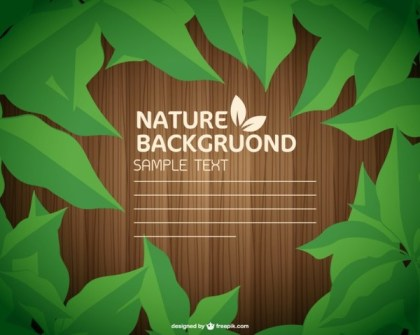 Green Leaves Wood Texture Free Vector