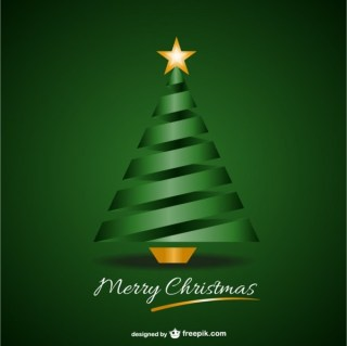 Green Merry Christmas Background Free Vector