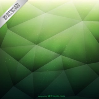 Green Polygonal Background Free Vector