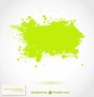 Green Splatter Background Free Vector