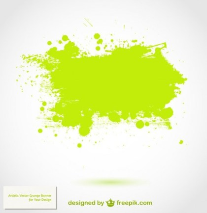 Green Splatter Background Free Vector