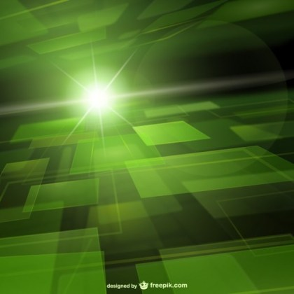 Green Techno Background Free Vector