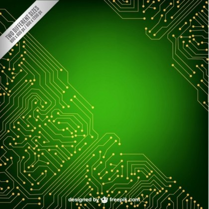 Green Technology Background Free Vector