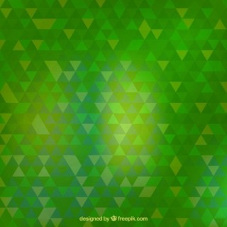 Green Triangles Background Free Vector
