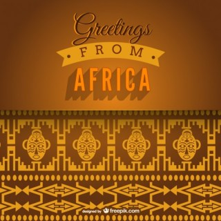 Greetings From Africa Free Vector