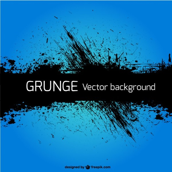 Grunge Blue Background Free Vector