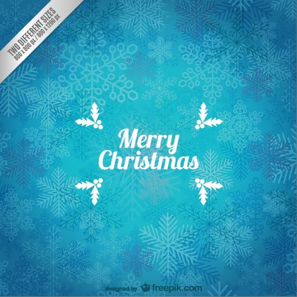 Grunge Christmas Card with Snowflakes Free Vector