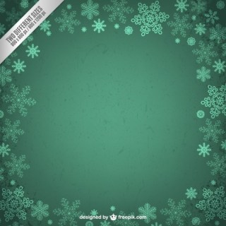 Grunge Frame with Snowflakes Free Vector