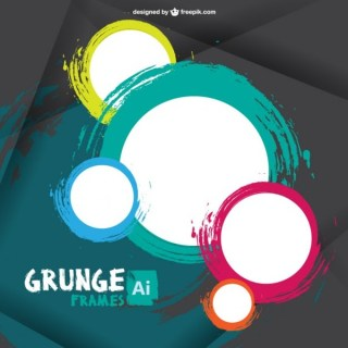 Grunge Frames Free Vector