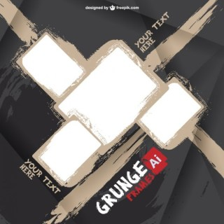 Grunge Frames Template Free Vector
