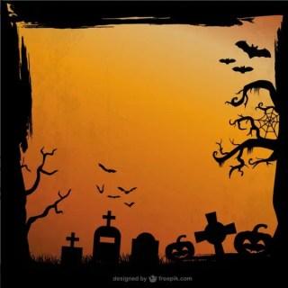 Grunge Halloween Background Free Vector