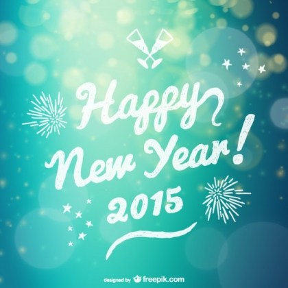 Grunge Happy New Year Lettering Free Vector