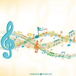 Grunge Music Sheet Background Free Vector