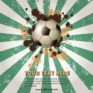 Grunge Sunburst Brazil Soccer Event Free Vector