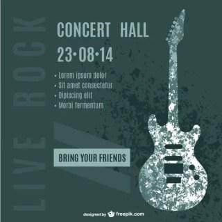 Guitar Concert Poster Free Vector