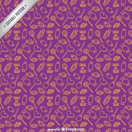 Halloween Candy Pattern Free Vector