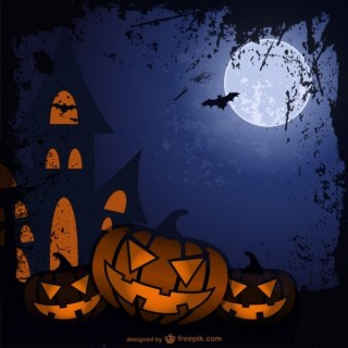 Halloween Cartoon Background Free Vector