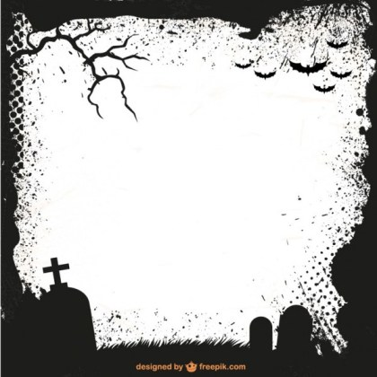 Halloween Frame Silhouette Template Free Vector