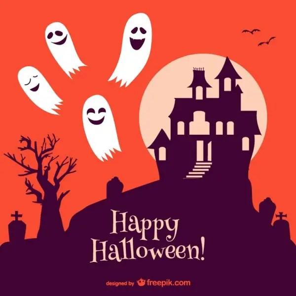 Halloween Haunted Castle Free Vector