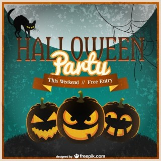 Halloween Invitation Template Free Vector