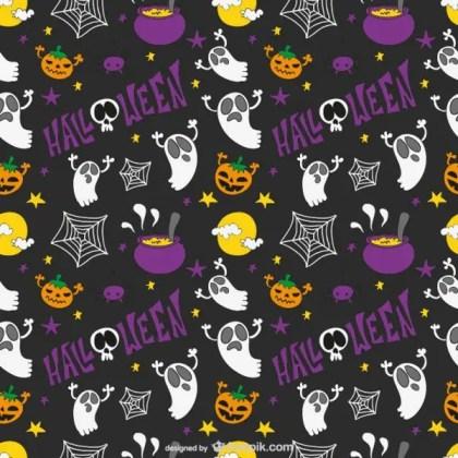 Halloween Kids Pattern Free Vector