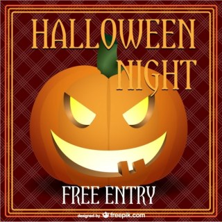 Halloween Night Party Poster Free Vector