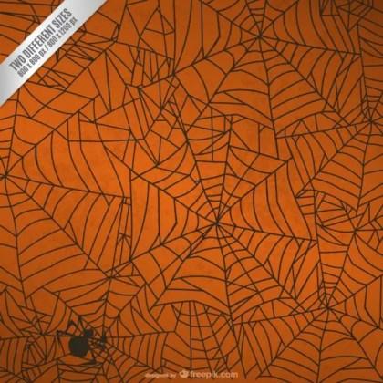 Halloween Spider Web Background Free Vector