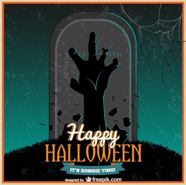 Halloween Zombie Night Free Vector