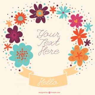 Hand-Drawn Banner Announcement Floral Design Free Vector