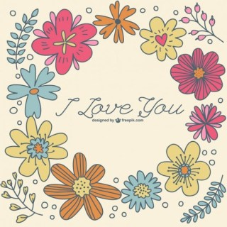 Hand-Drawn Floral Template Free Vector