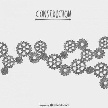 Hand Drawn Under Construction Free Vector