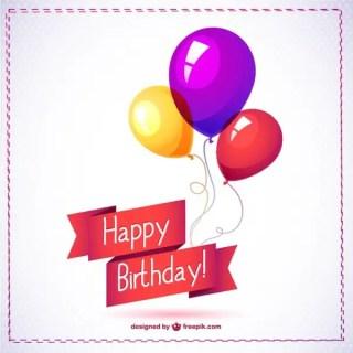 Happy Birthday Balloon Free Graphics Free Vector