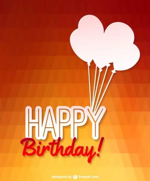 Happy Birthday Balloons Design Free Vector