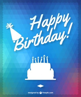 Happy Birthday Cake Design Free Vector