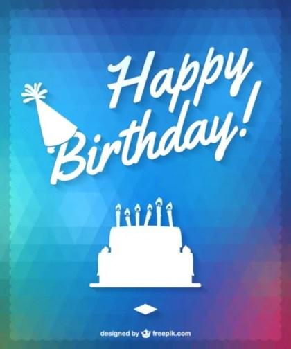 Happy Birthday Cake Design Free Vector