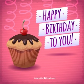 Happy Birthday Card Free Download Cake Free Vector