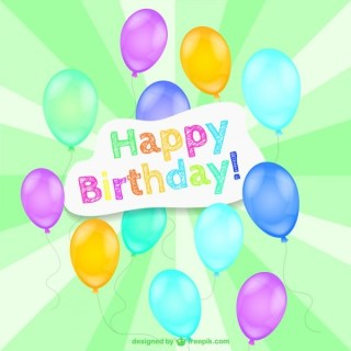 Happy Birthday Design Free Vector