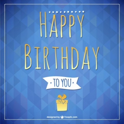 Happy Birthday Lettering Card Free Vector