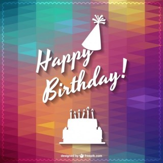 Happy Birthday Lettering Design Free Vector