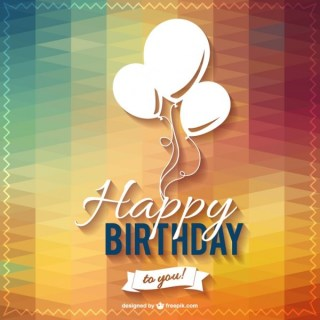 Happy Birthday Lettering Party Design Free Vector